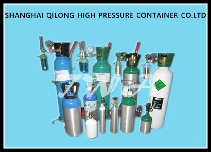 Seamless Steel High Pressure Gas Cylinder / Hydrogen medical grade oxygen tank