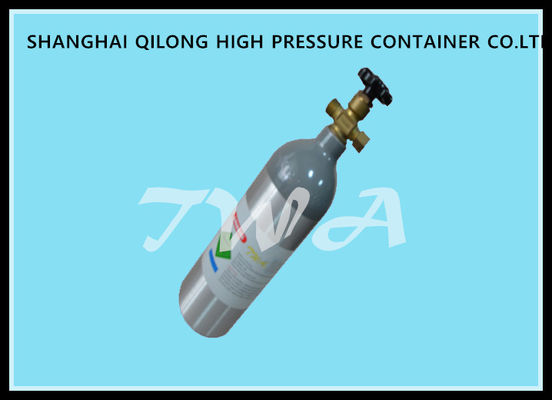 China Medical Gas Cylinder 1.8L Small Portable Oxygen Tanks With Footring supplier
