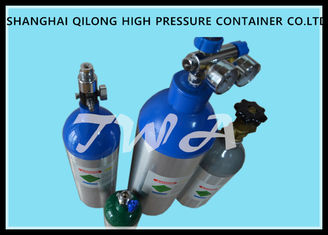 China High Pressure Aluminum Gas Cylinders 0.22L-50L For Industrial Gases Or Specialty Gases supplier