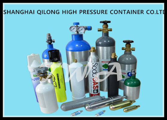 China DOT 0.3l - 1.68L High Pressure Aluminum Alloy Gas Cylinder Safety for CO2 Beverage supplier