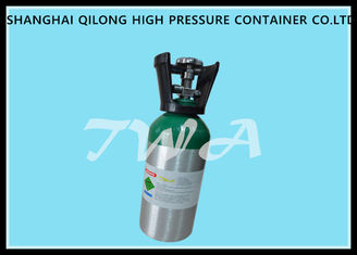 China TWA Lightweight 0.8L Aluminum Gas Cylinder / Small Gas Bottle supplier