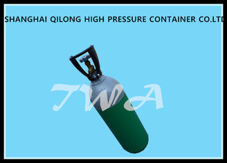 China 1L EU Certificate Aluminum Gas Cylinder Green Highly Corrosion Resistance supplier