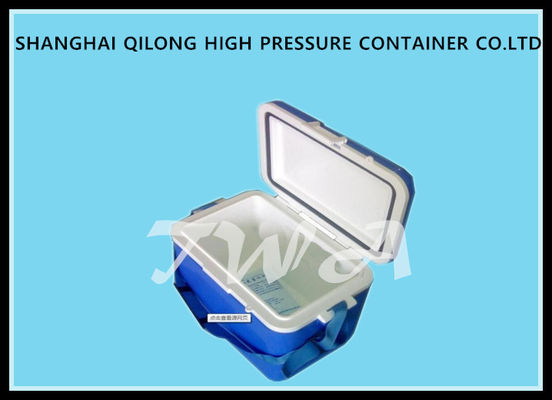 China 16L HS713C Ice Cooler Box White Top And Blue Box 380×250×346 Mm supplier