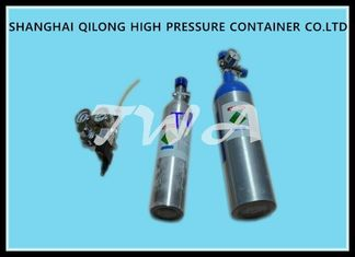China Green 0.67L Aluminum Gas Tanks Medical Grade Oxygen Cylinder LW-YOY supplier
