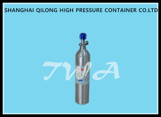 China 0.7L DOT High Pressure Aluminum   Gas Cylinder  Safety Gas Cylinder for  Use CO2 Beverage supplier
