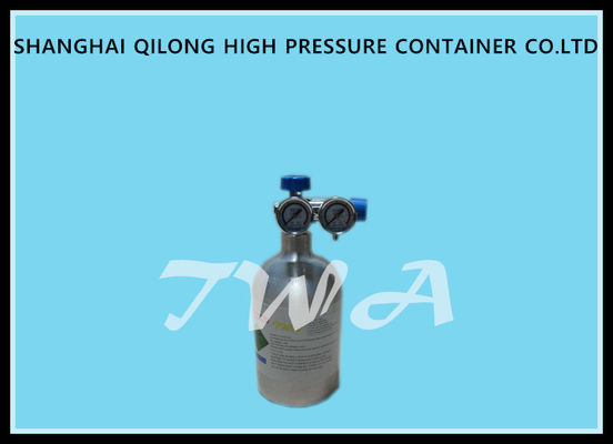 China Medical Aluminum Oxygen Cylinders 0.74L / High Pressure Nitrogen Cylinder supplier