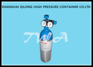 China Alloy Aluminum Gas Cylinder 2.67L Compressed Gas Cylinder Safety supplier