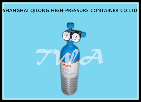 China LW-VC 2L EU Certificate High Pressure Aluminum Gas Cylinder L Safety Gas Cylinder for Medical use supplier