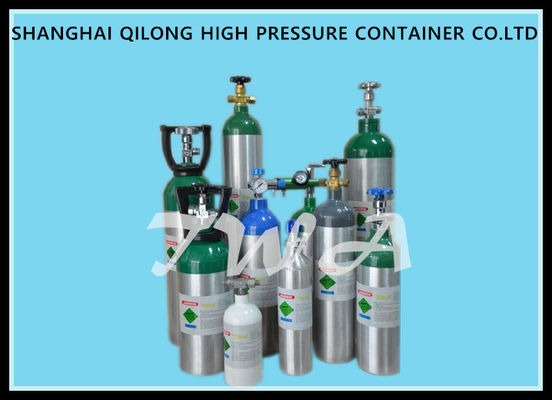 China 4L Seamless Aluminum Medical Gas Cylinder 30 / 31Mpa Test Pressure supplier