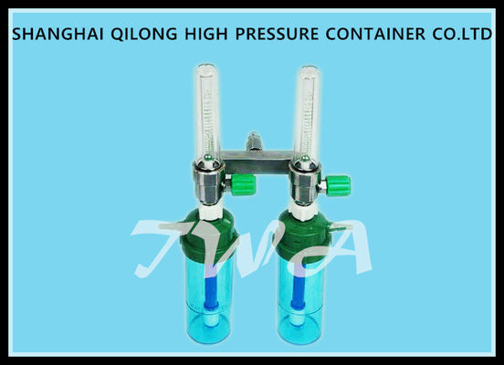 China Plastic Body 0.35MPa Wall Mounted Oxygen Regulator Double Flowmeter supplier