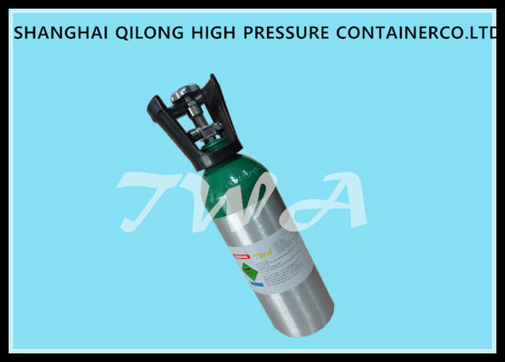 3.6kg Aluminum  3.2L Small Oxygen Bottle Seamless For Medical  Use