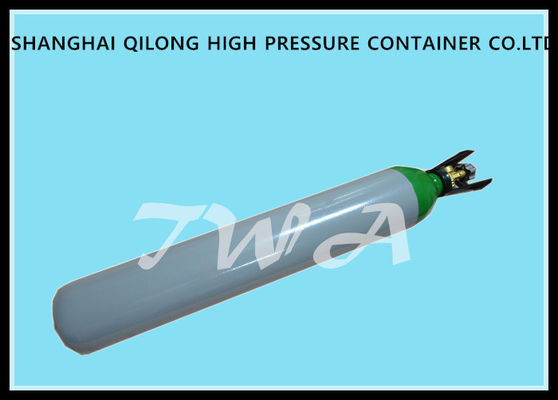 Aluminum Pressure 10L Medical Gas Cylinder 15Mpa 726mm Length