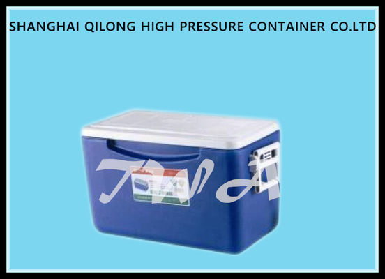 White Top And Blue Ice Cooler Box Durable , Strong Load Bearing Capacity Plastic Cooler Box