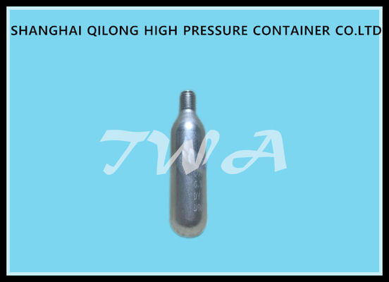 CE / TPED / DOT Disposable Gas Cylinders 17G CO2 Cartridge , 17g 28L High  Pressure Gas Cylinders