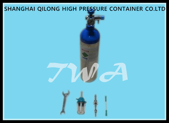 Hospital 1.2L Aluminum Gas Cylinder Bottles 355mm Length 1.43kg