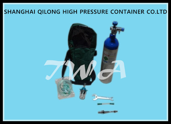 Customized 1L Medical Gas Cylinder 75mm Outside Diameter Hospital Oxygen Tank