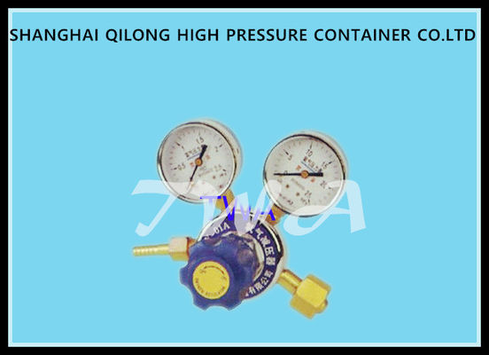 High And Low Pressure Gauge Nitrogen Cylinder Regulator , Gas Cylinder Pressure Regulator