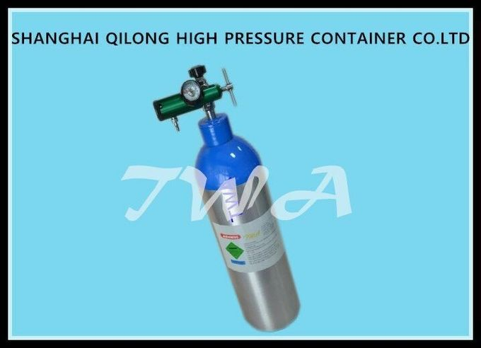 Small Portable 8L Oxygen Scuba Diving Cylinder With High Pressure Reducing Valve